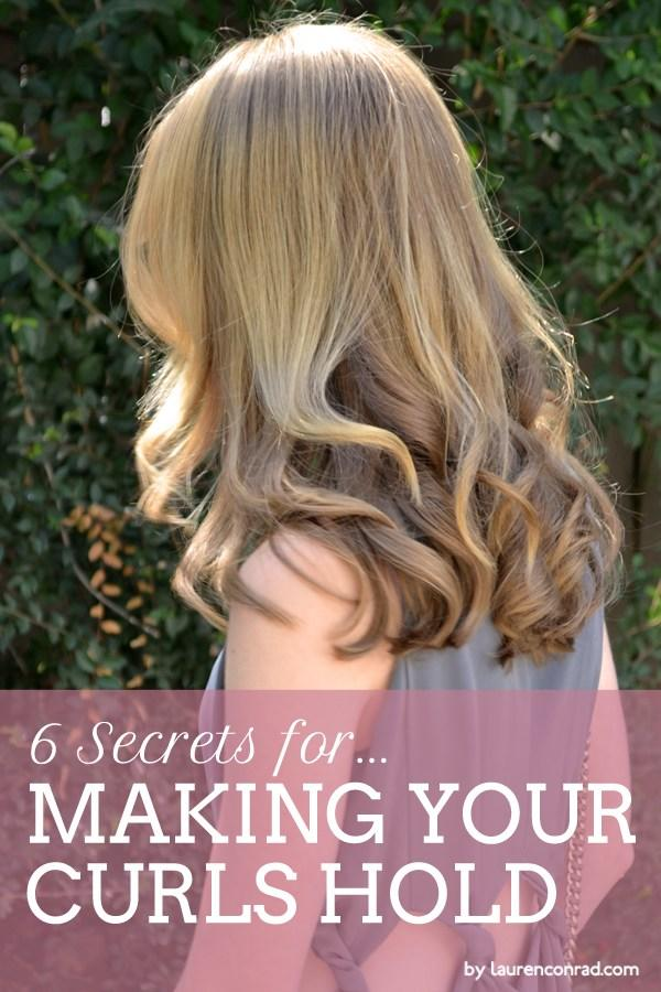 The Best Primp Tip How To Make Your Curls Hold Lauren Conrad Pictures