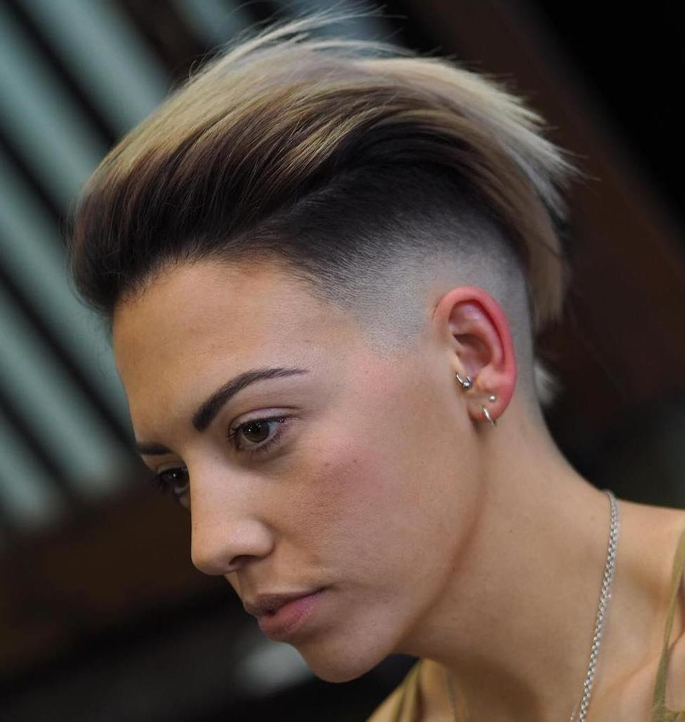 The Best 20 Sassy And Chic Shaved Hairstyles For Women Pictures