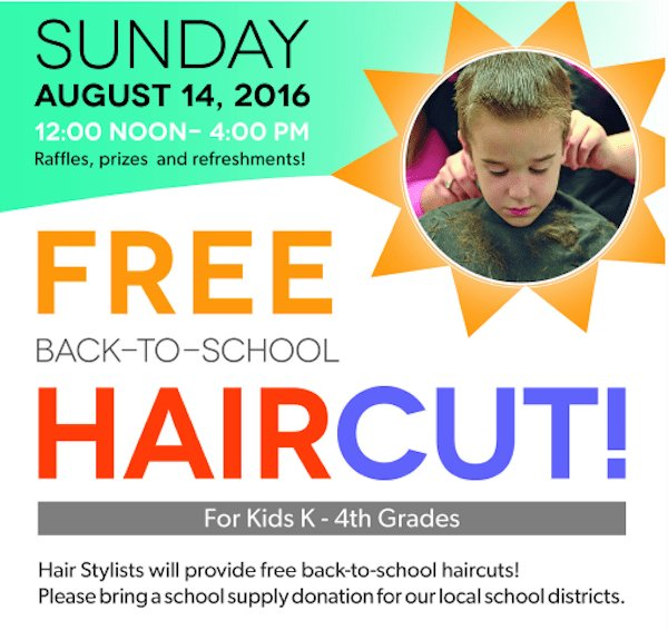 The Best Free Back To School Haircuts For Kids In Cary Triangle Pictures