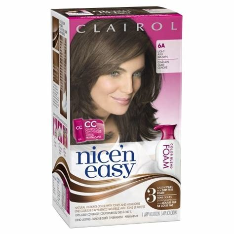 The Best Clairol Nice N Easy Foam Hair Color 6A Light Ash Brown 1 Pictures