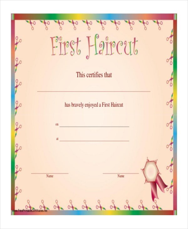 The Best Haircut Certificate Template 7 Pdf Psd Word Indesign Documents Download Free Premium Pictures