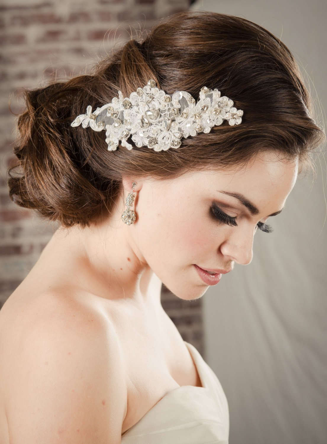 The Best Hair Accessories Bridal Lace Comb Pearl Rhinestone Pictures