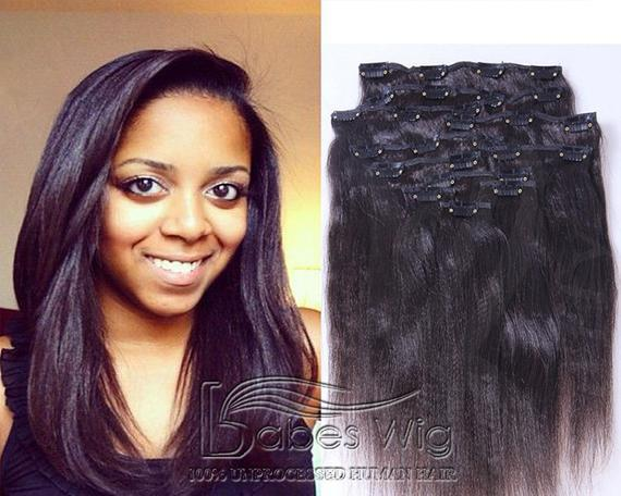 The Best 100 Real Human Hair Extensions Clips In Light Yaki Cheap Remy Pictures