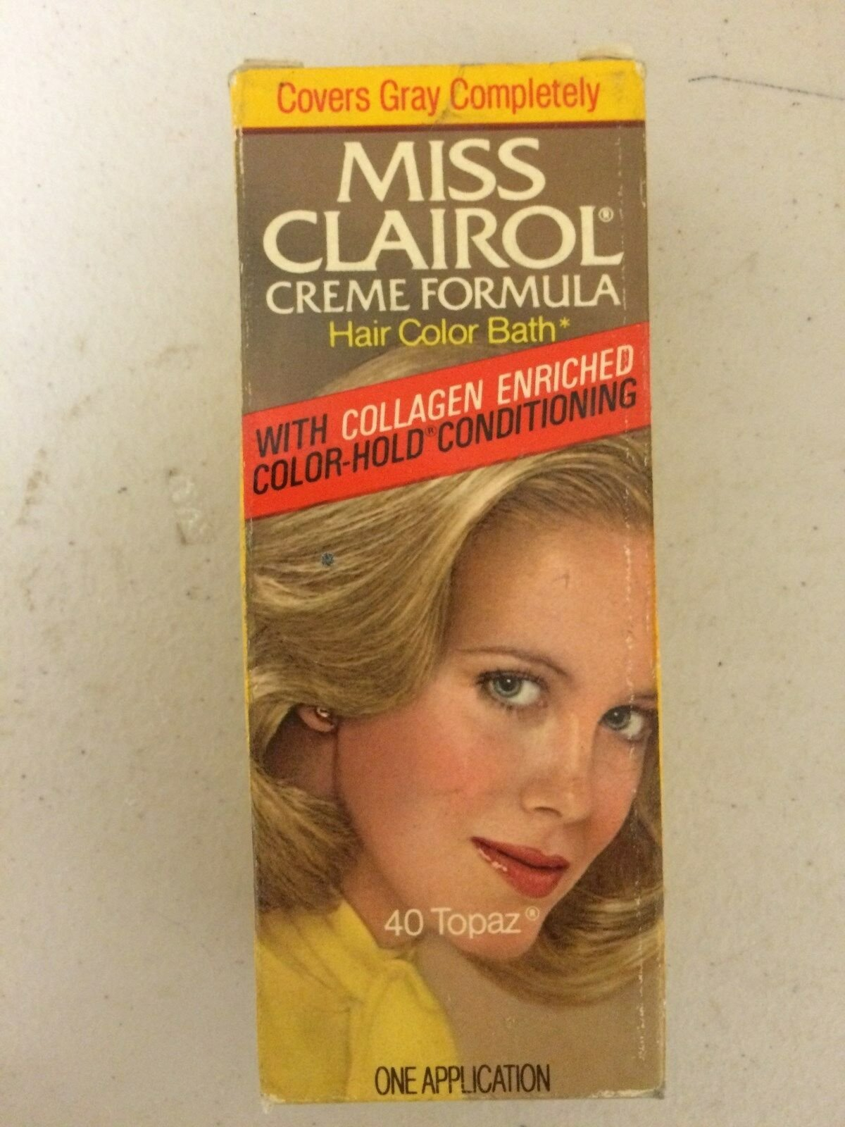 The Best Vintage Miss Clairol Hair Color Bath With Collagen Enriched 40 Topaz Ebay Pictures