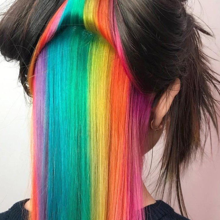 The Best 4 Rainbow Hair Color Trends You Need To Know For 2017 Allure Pictures