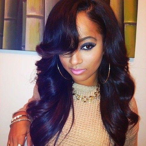 The Best Black Weave Hairstyles With Side Bangs 34 – Brucejudisch Com Pictures