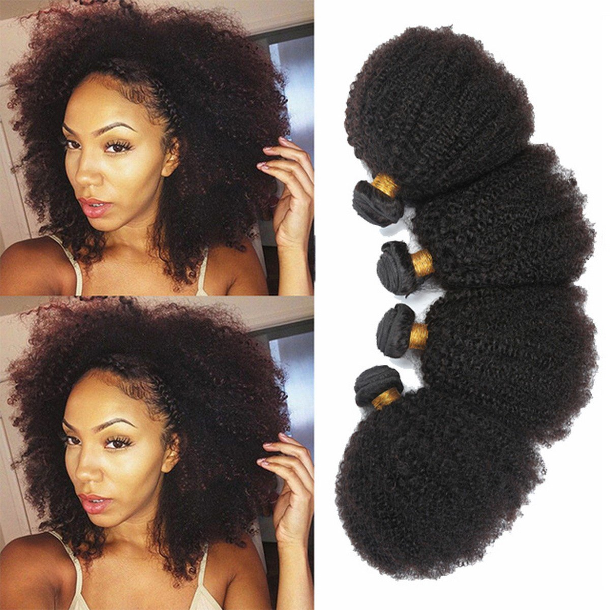 The Best 1 Bundle Mongolian Afro K*Nky Curly Curl Human Hair Pictures