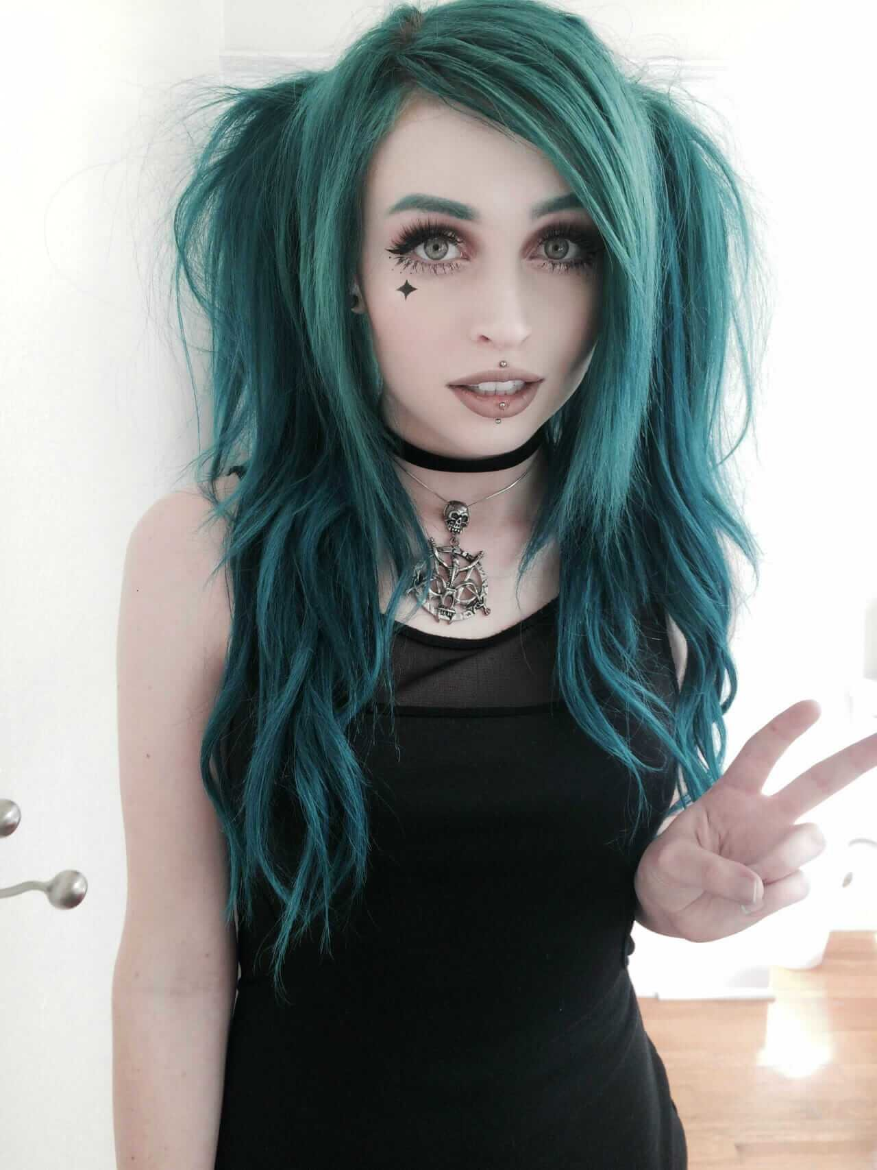 The Best 25 Green Hair Color Ideas You Have To See Ninja Cosmico Pictures