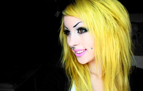 The Best Angelica Muderotic Yellow Hair Septum Ring Cheek Pictures