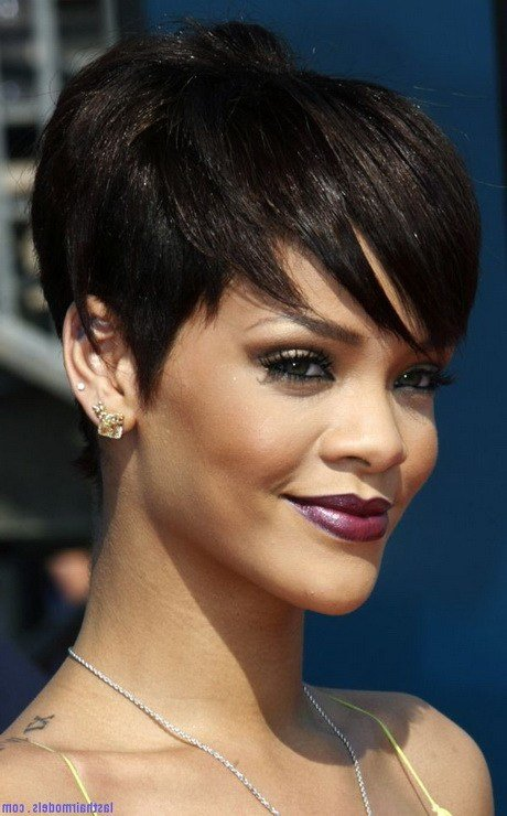 The Best Rihanna Short Hair Styles 2014 Pictures