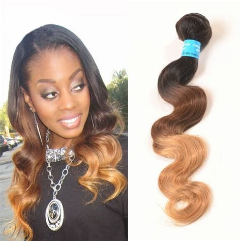 The Best 1B 33 27 3 Tone Ombre V*Rg*N Human Hair Body Wave Weave 1 Pictures