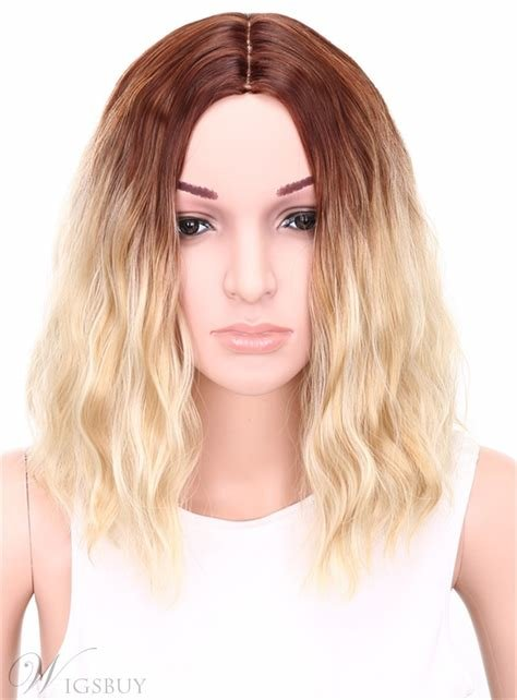 The Best Aisi® Medium Wavy Bob Hairstyle Capless Blonde 12 Inches Pictures