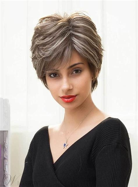 The Best Mishair® Short Straight Color Mixture Human Hair Capless Pictures