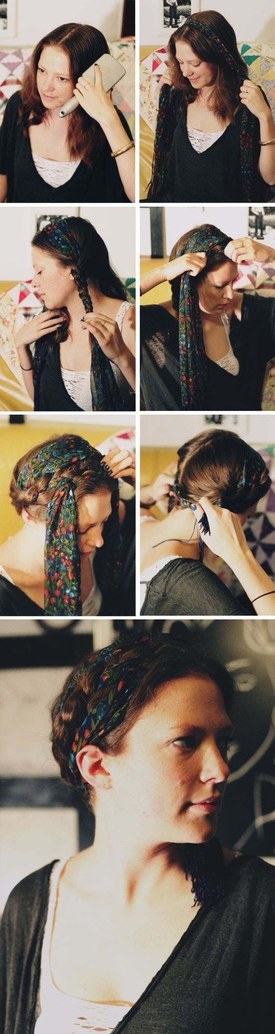 The Best 3 Scarf Hairstyles We Love How To Do Them Your Hair Pictures