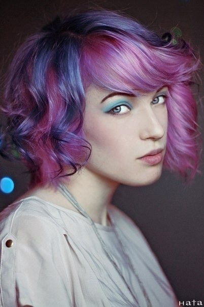 The Best Pink And Lavender Short Curly Hair Hair Colour Pictures