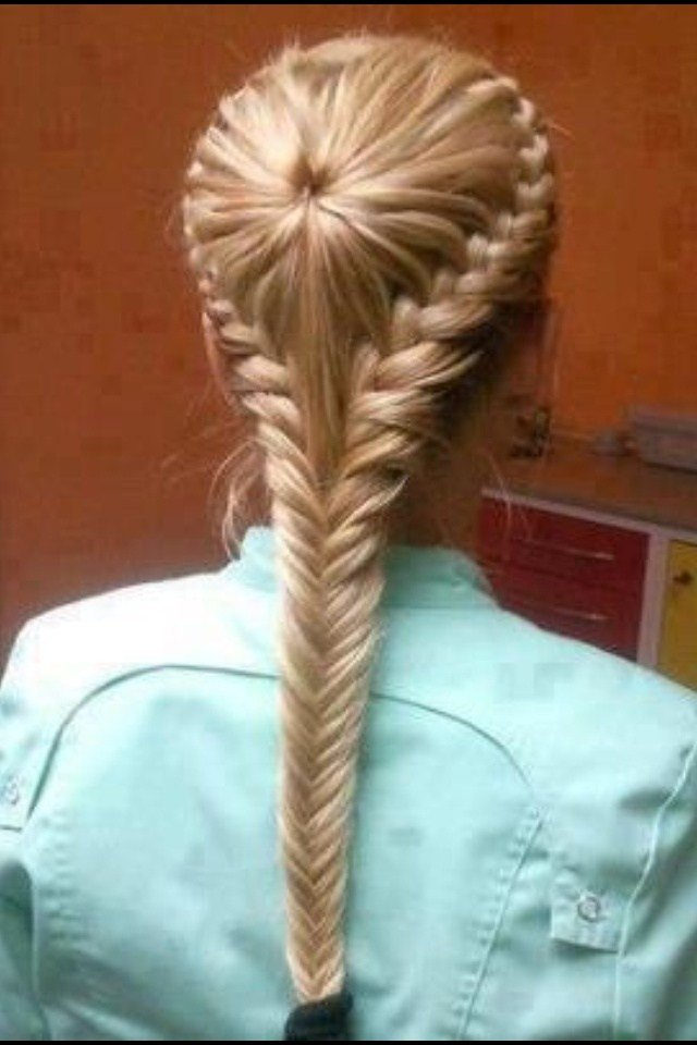 The Best Ponytailed Inside Out Braid With A Herringbone Finish Pictures