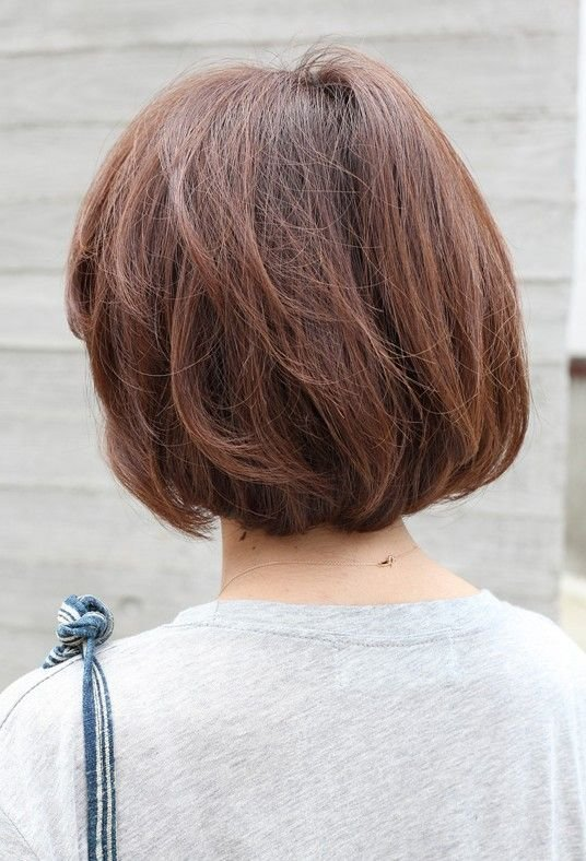 The Best Back View Short Brown Bob Hairstyle Short Brown Bob Pictures
