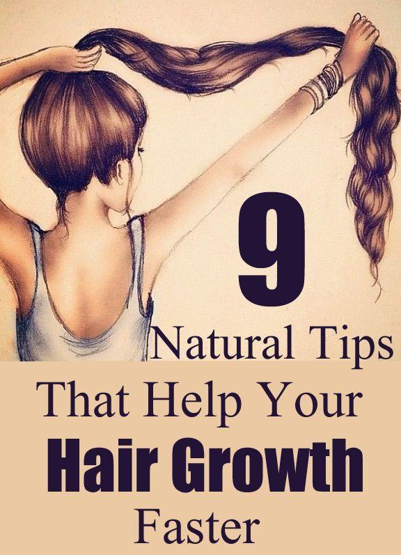 The Best 9 Natural Tips That Help Your Hair Growth Faster Diy Pictures