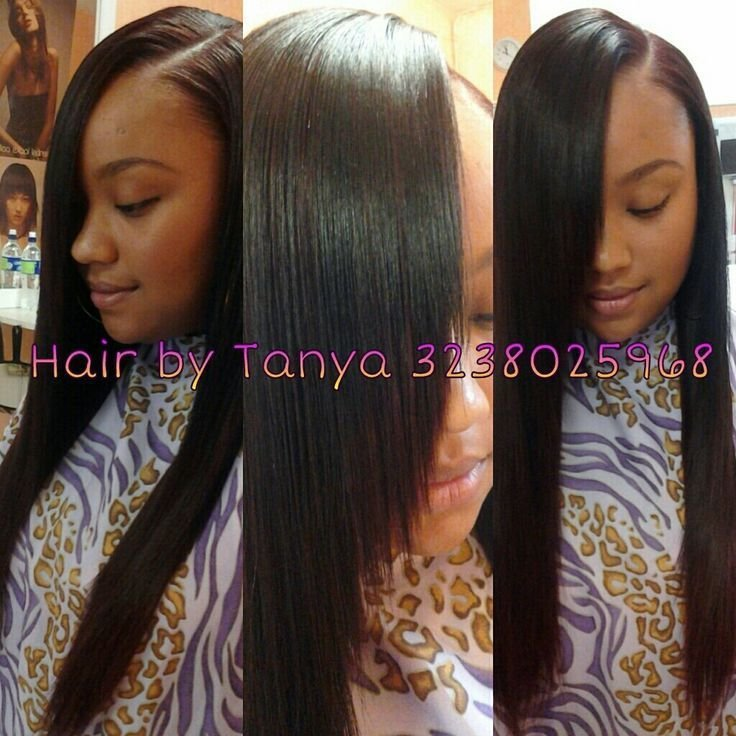 The Best Laid Side Part Sew In By Tanya Hair Beauty Pinterest Hair Sew Ins And Photos Pictures