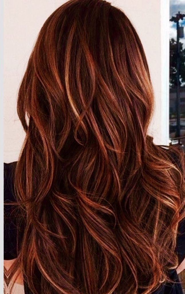 The Best And Caramel Highlights In Dark Brown Hair Red And Caramel Pictures