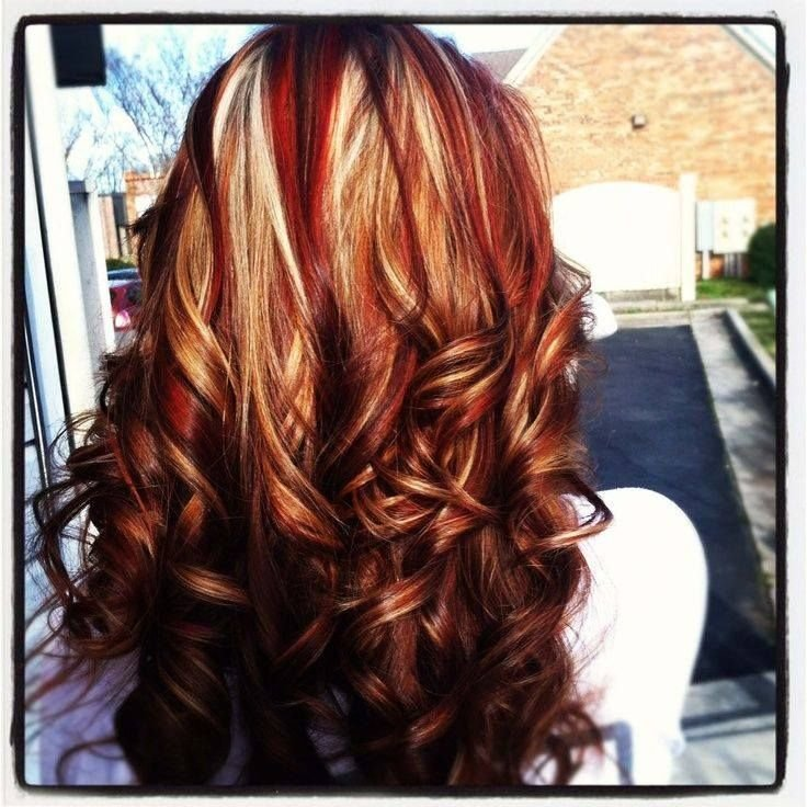 The Best Red And Gold Highlights Hair And Make Up Pinterest Pictures
