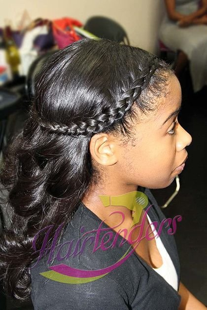 The Best Halo Braided Crown Braid With Hairtenders Signature Sew In Pictures