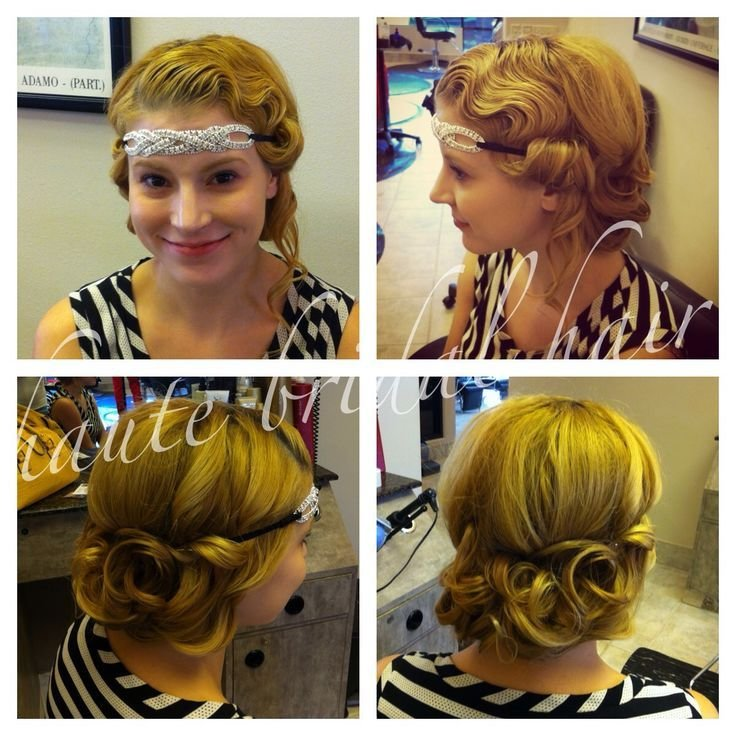 The Best Updo 1920 S Retro Vintage Hair Styles Fingerwaves White Pineapple Bride Styles By Me Pictures