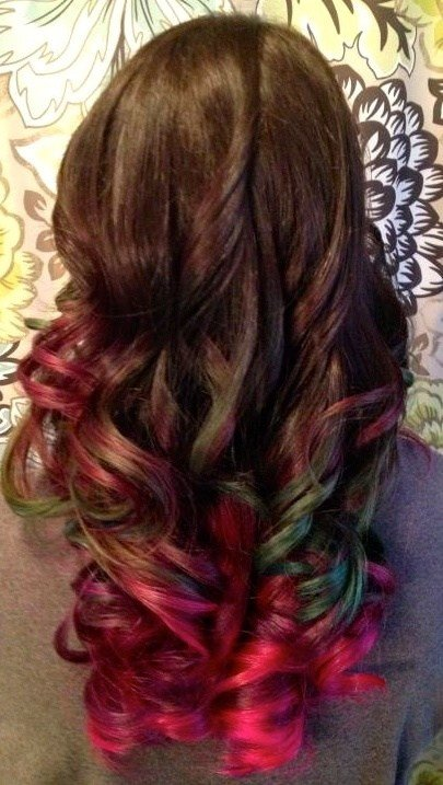 The Best Multi Color Ombre Hair Ideas Pinterest Ombre Pictures