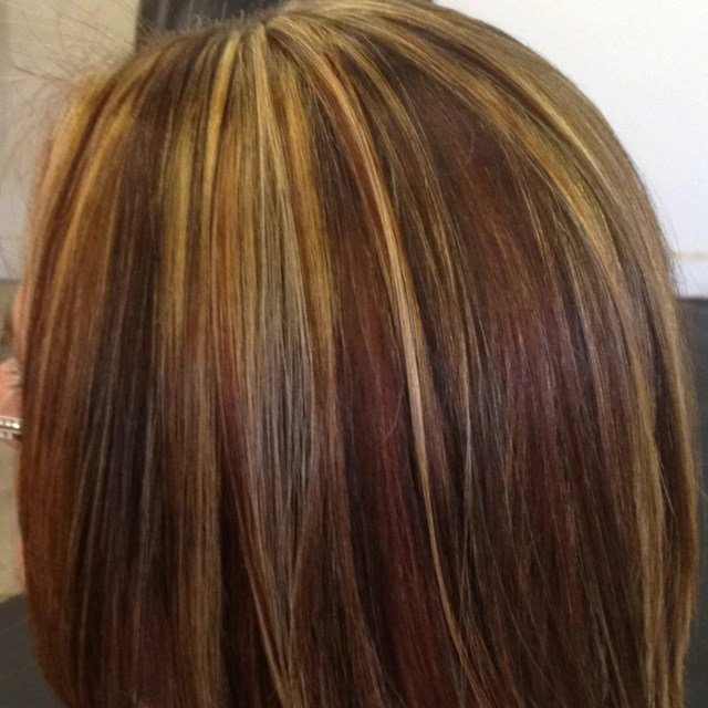 The Best Gorgeous Tricolor Highlight Lowlight Pieced Haircolor Pictures