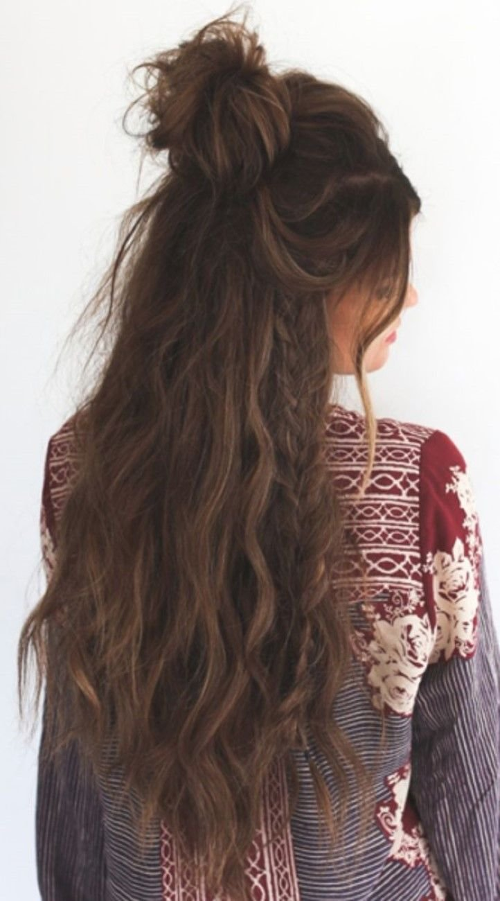 The Best Hairenvy Add Some Texture To A Half Up Half Down With A Braid And Some Loose Curls Pictures