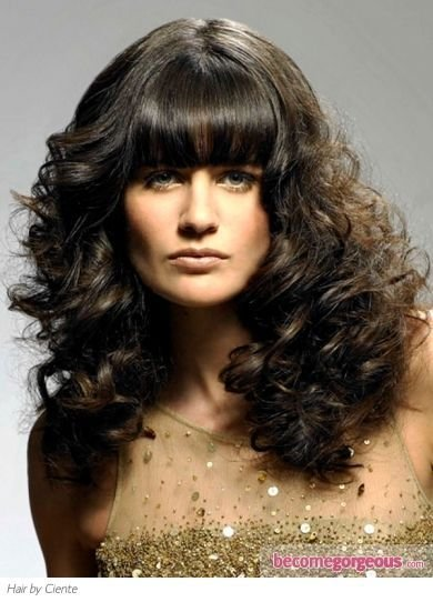 The Best Curly Hair Straight Bangs And Curly Hair Styles On Pinterest Pictures