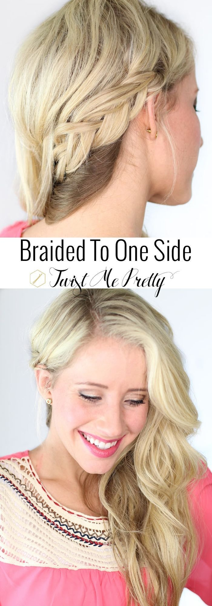 The Best 1000 Ideas About One Sided Braid On Pinterest Hair Styles For Prom Grad Hairstyles And Pictures