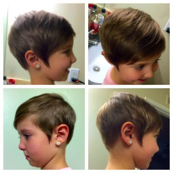 The Best Kids Toddler Short Pixie Haircut Girls Asymmetrical Hair Pictures