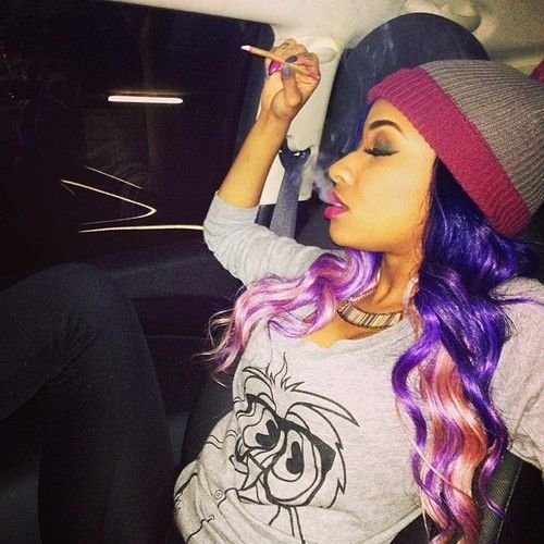 The Best Diamond Rapper Purple Hair Diamond Atl From Crime Mob Female Rapper X Diamond Pinterest Pictures