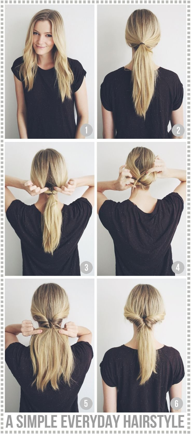 The Best A Simple Everyday Hairstyle Passions For Fashion Nice Pictures