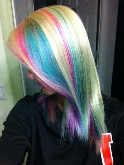 The Best Blonde Hair With Pastel Highlights Google Search Hair Pinterest Pastel Highlights Pictures