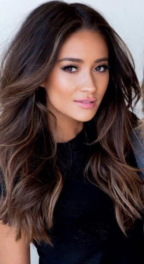 The Best Gallery Of Highlights For Dark Brown Hair 2017 Minimalist Pictures