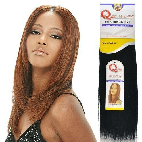 The Best Human Hair Weave Milky Way Que Yaky Que 14 Color 1B By Pictures