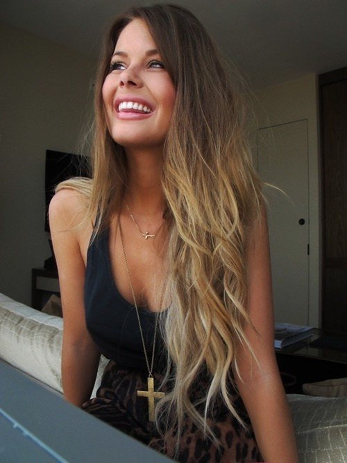 The Best Long Brown To Blonde Hair Wish I Had The Guts To Do This Pictures