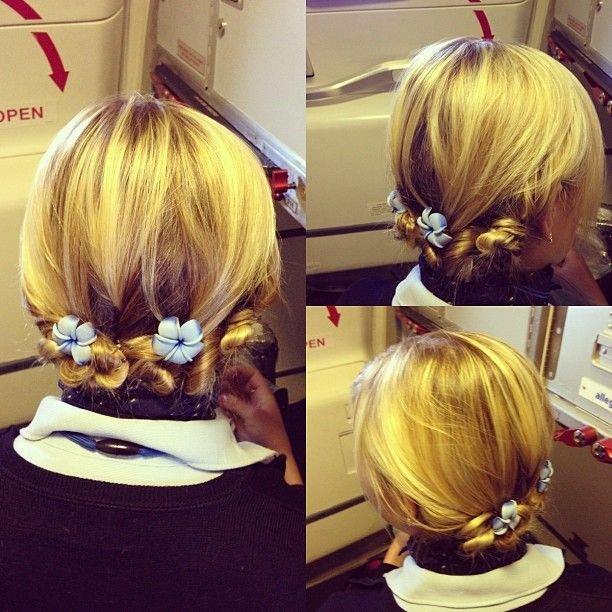 The Best 17 Best Images About Flight Attendant Hairstyles On Pictures