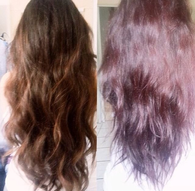 The Best Before And After Dying My Hair Sally S Ion Color Brilliance Medium Burgundy Brown Hair Pictures