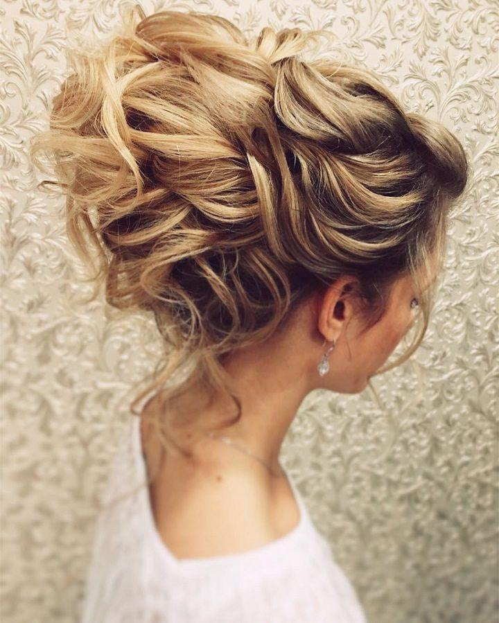 The Best Gorgeous Messy Bridal Hair Updos Messy Updo Wedding Pictures