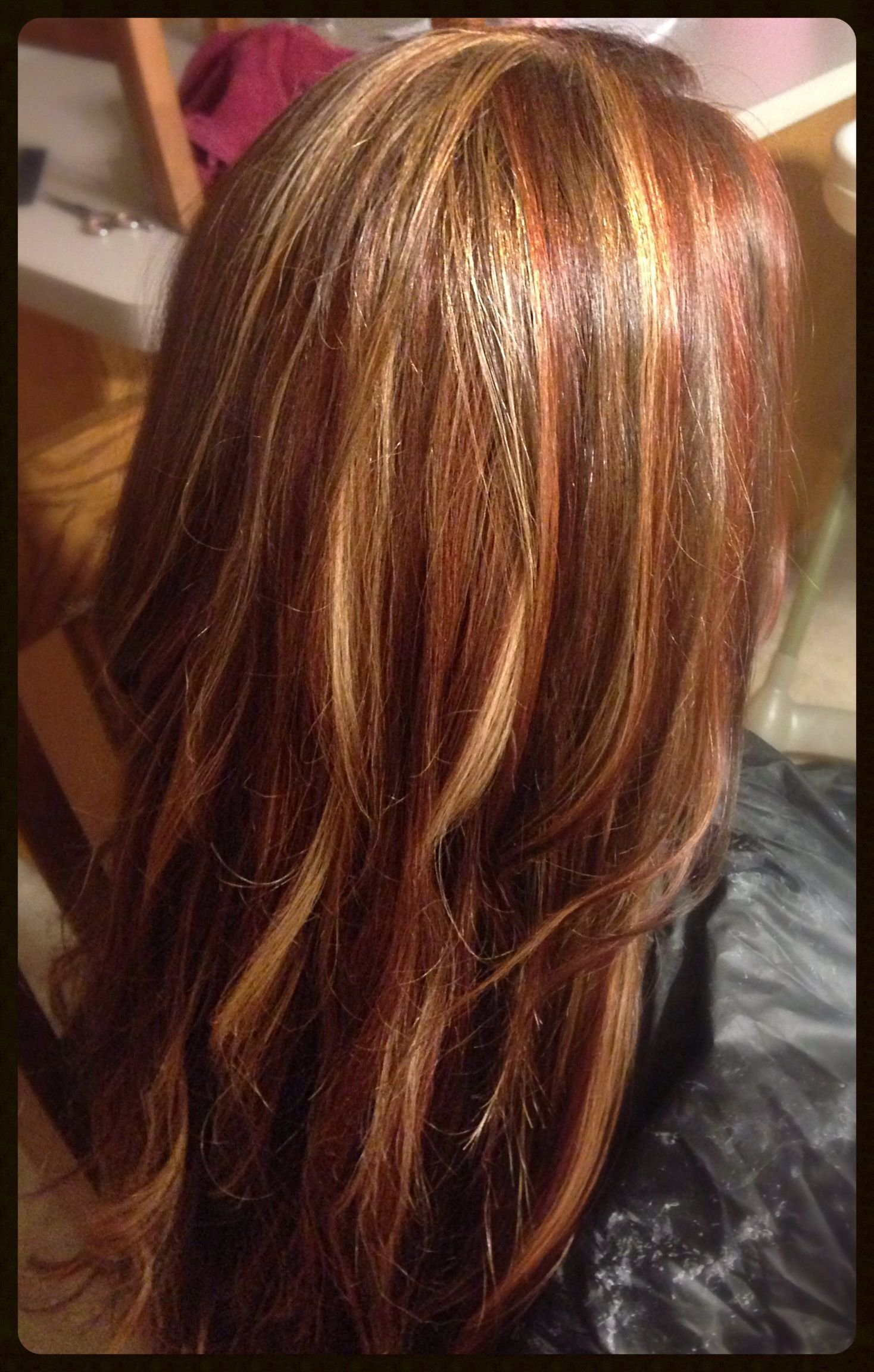 The Best Blonde Red Brown Foils Loooove Loooove It My New Hair Pictures