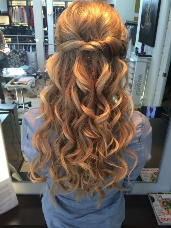 The Best Half Up Half Down Wedding Hair With Big Curls We This Pictures