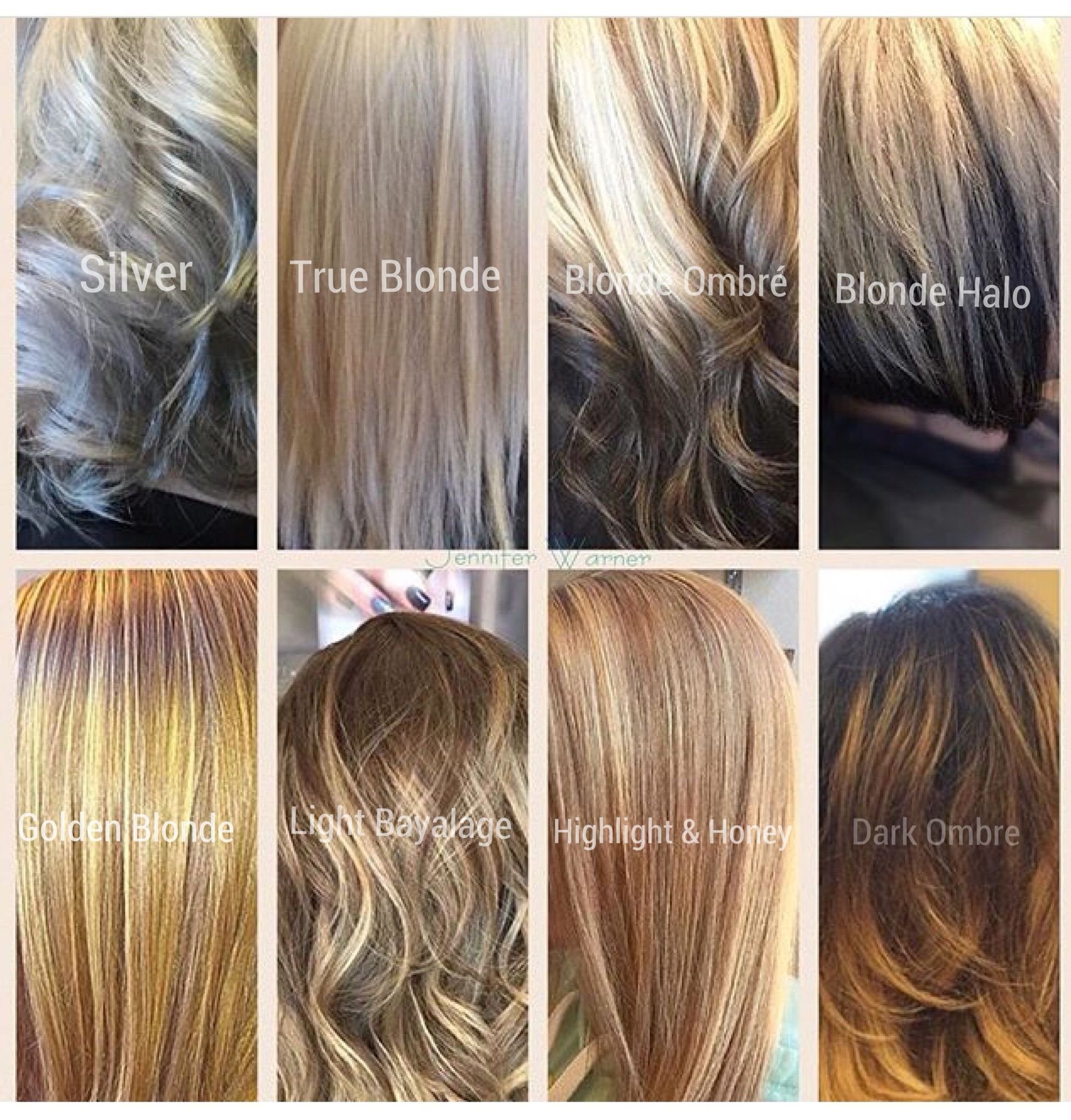 The Best Blonde Hair Color Chart By Jennifer Warner From Silver Pictures