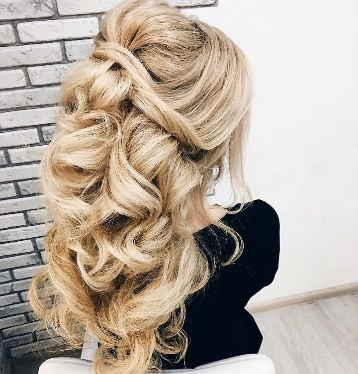 The Best Half Up Half Down Wedding Hairstyle Partial Updo Bridal Pictures