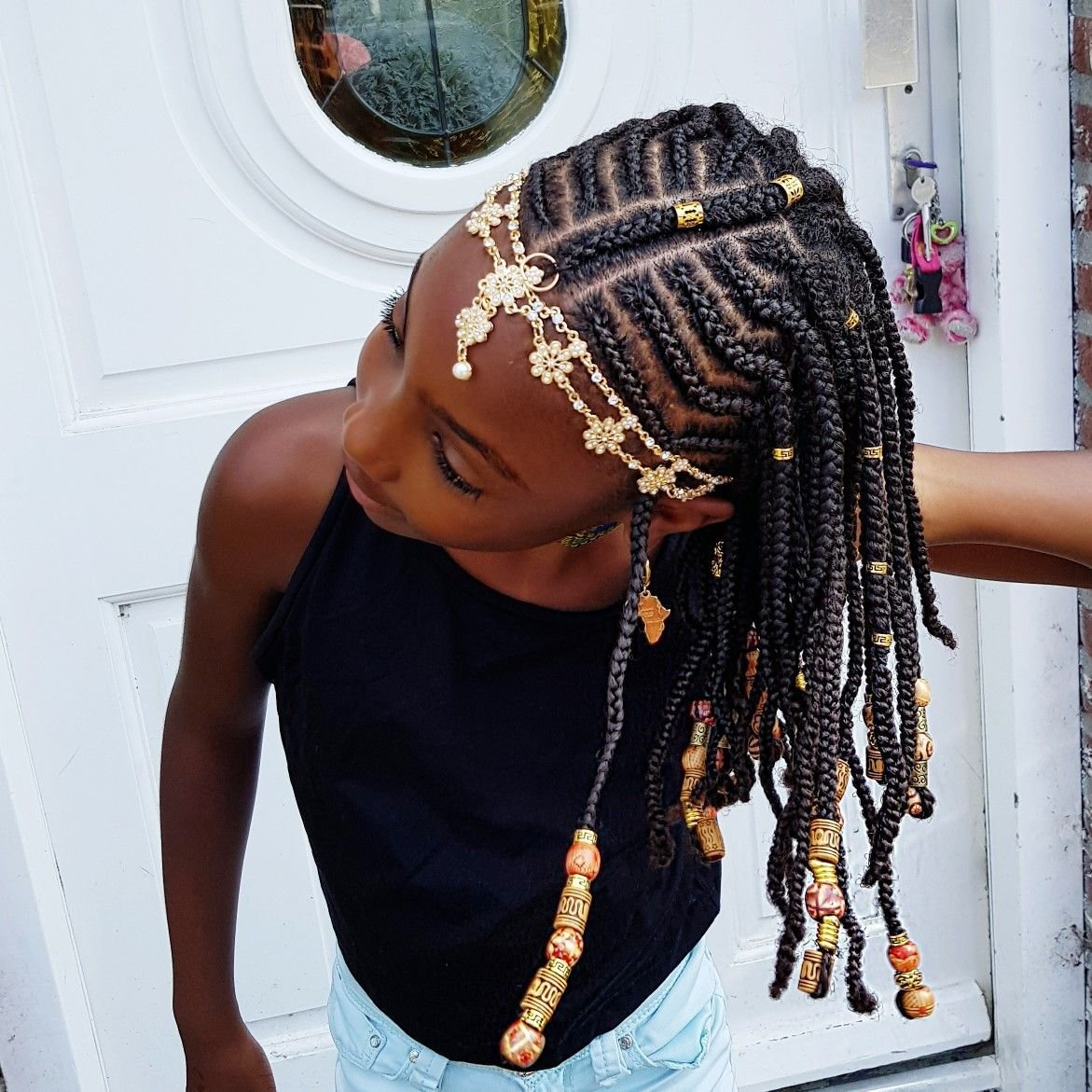 The Best Braids And Beads Natural Hairstyles For Girls Braid Pictures
