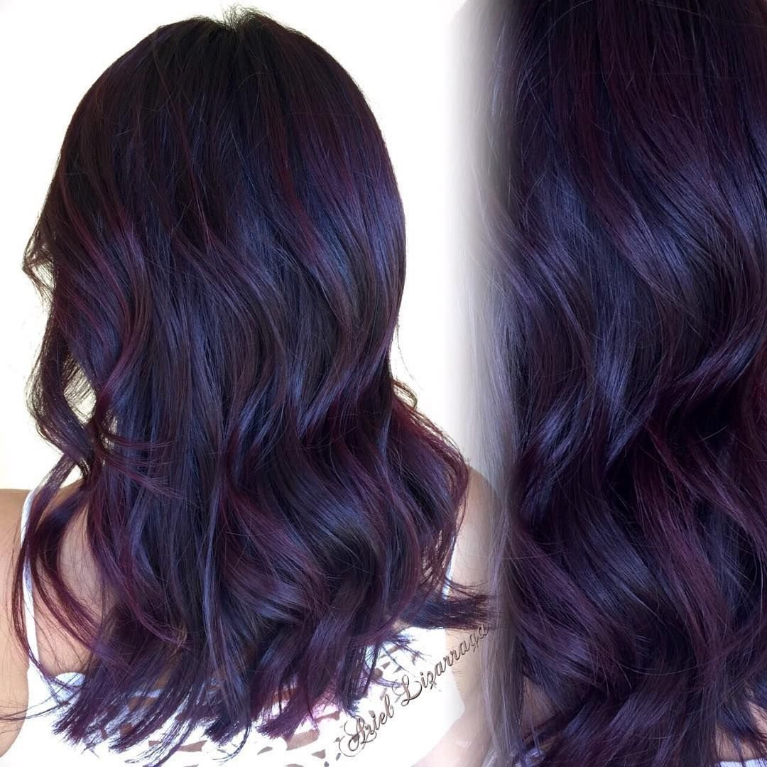 """The Best All Over Color """"Dark Blackberry Red New Cut Styled Pictures"""