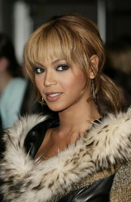The Best Beyonce Knowles Loose Ponytail With Wispy Bangs Loose Pictures