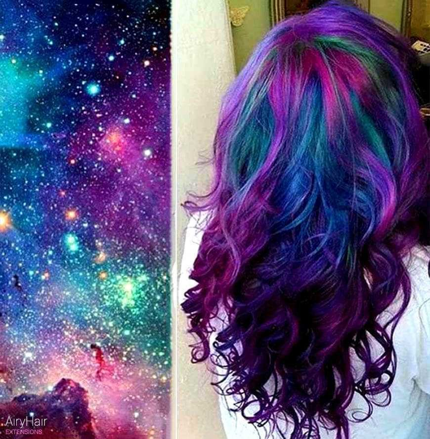 The Best The Very Best Of Galaxy Hair And Space Hairstyles Pictures